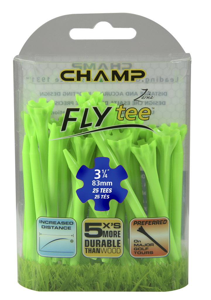 ​​Pack Of 25 - 3 1/4 Citrus Green Flytee