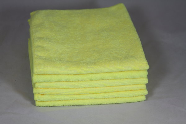 [14-1616MF-Y] ​​16X16 Microfiber Towel - Yellow