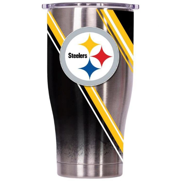 [35-ORCCH27DSWPTS] ORCA Chaser 27 oz. Double Stripe Wrap Pittsburgh Steelers